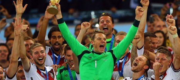 Německo vyhlašuje bonusy na světový pohár v roce 2018